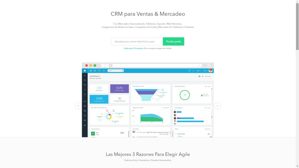 Agile CRM - CRM Gratuito en Español - CRM Gratis en Español - Software CRM