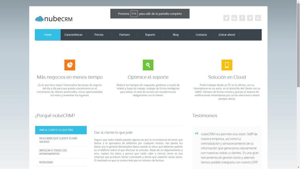 NubeCRM - CRM Gratuito en Español - CRM Gratis en Español - Software CRM
