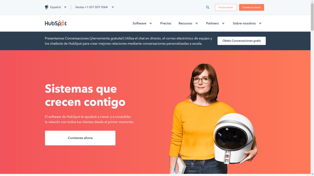 Hubspot CRM - CRM Gratuito en Español - CRM Gratis en Español - Software CRM