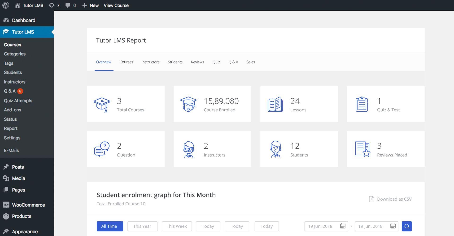 Tutor LMS es un plugin para crear  plataformas educativas.