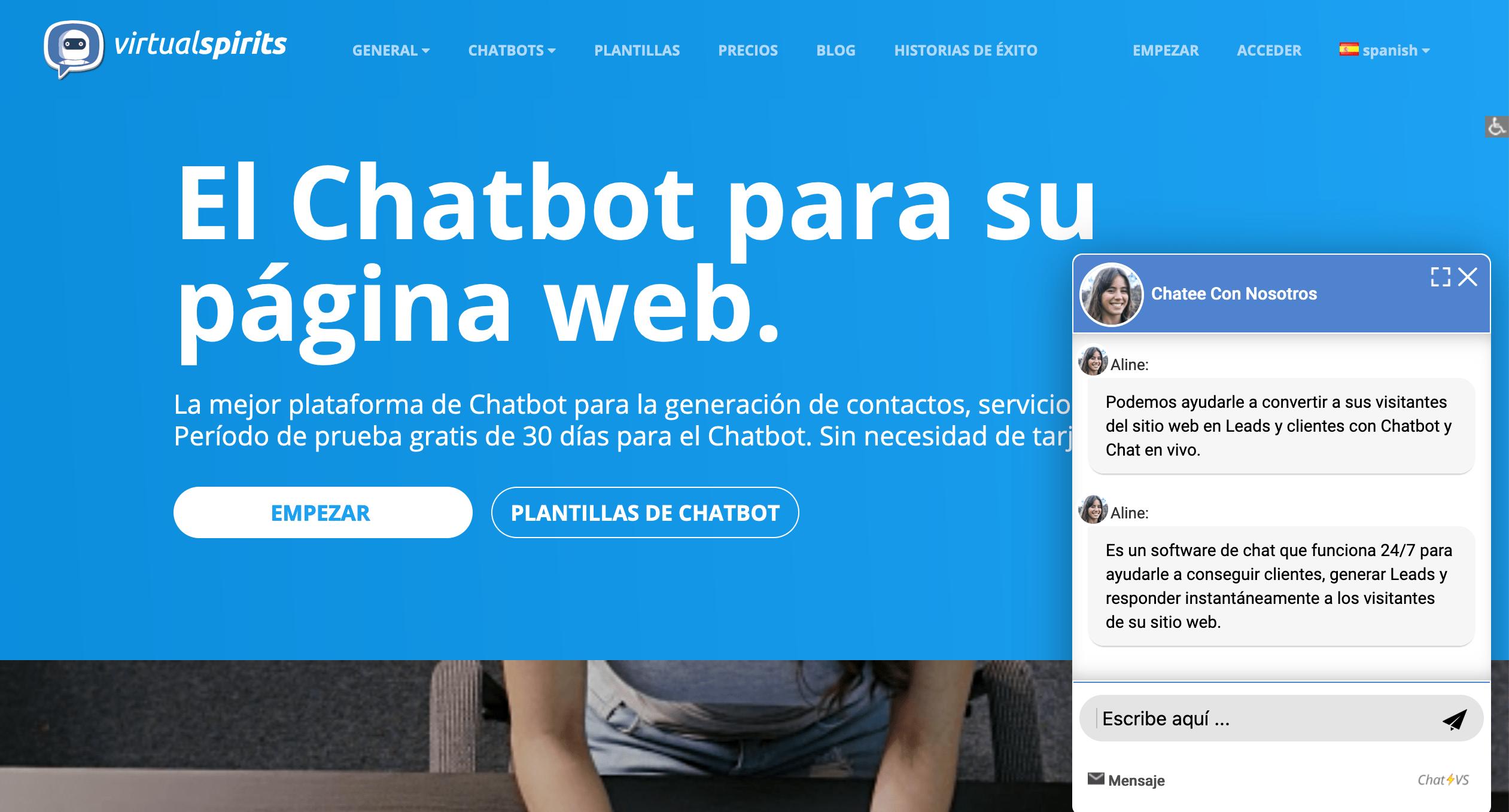 Ejemplo de chatbot para atención al cliente en el eCommerce